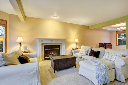 fireplace living room: Beautiful cozy living room with hardwood floor and fireplace.