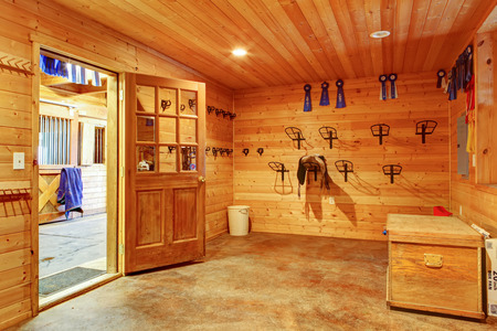 Beautiful clean stable horse barn. Storage room. Northwest, USA