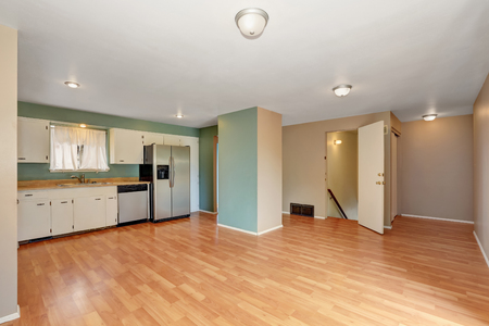 remodeled: Remodeled kitchen with stainless steel appliances and hardwood floor. Northwest, USA