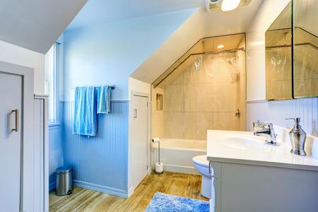 Blue bathroom foto royalty free, immagini, immagini e archivi ...