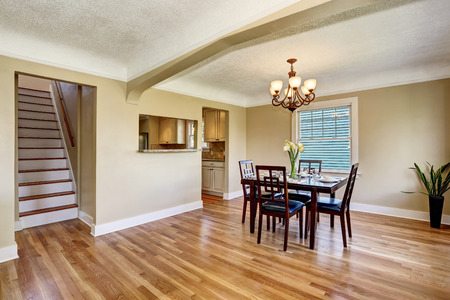 Open floor plan dining area. View of stairs. Northwest, USA
