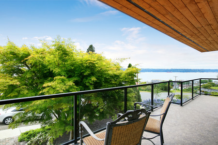 balcony: Spacious balcony with perfect water view. Northwest, USA
