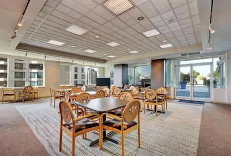 Lounge, common area of apartment building. Interior design. Northwest, USA