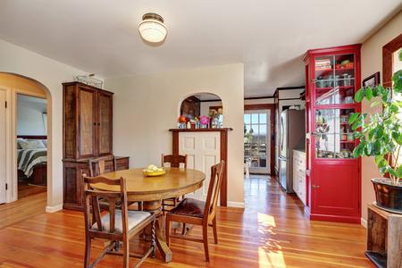 northwest: Old house interior. Dining room with antique furniture, Northwest, USA