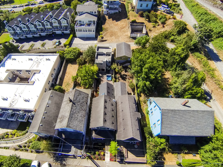 tacoma: Panoramic view of residential area in Tacoma. Northwest, USA Stock Photo