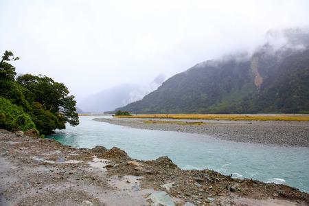 westland: Copland river view inthe Westland Tai Poutini National Park. New Zealand Stock Photo