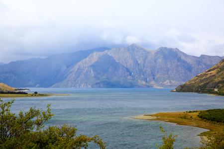 westland: Lake Matheson in South Westland, New Zealand, Stock Photo