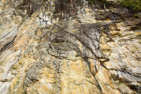 rocky coastline: Rocky coastline of lake Te Anau, New Zealand.
