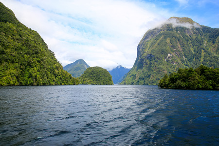 nature scenery: Milford Sound at Te Anau in New Zealand.