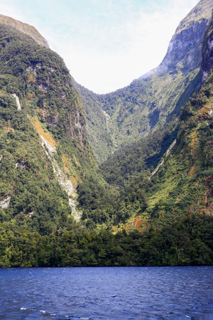te: Picturesque view of Milford Sound fiord. Fiordland National Park, New Zealand.