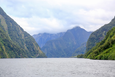 te: Picturesque view of Milford Sound at Te Anau. Fiordland National Park, New Zealand.