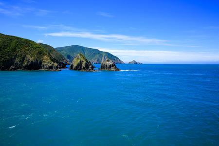 Beautiful landscape view of Marlborough Sound, New Zealand. Banco de Imagens
