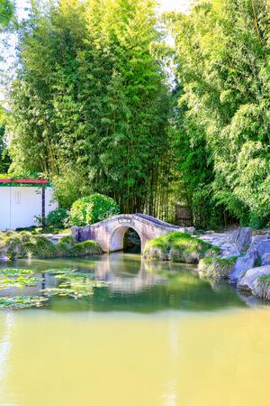 nz: HAMILTON, NZ - FEBRUARY 25, 2015: Chinese Scholars garden in Hamilton Gardens