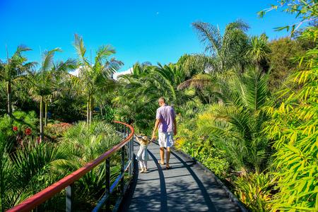 HAMILTON, NZ - FEBRUARY 25, 2015: Tropical garden in Hamilton Gardens. Stock Photo