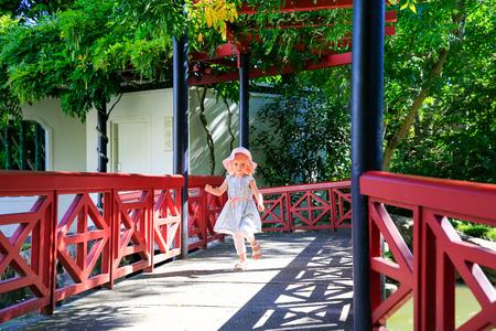 HAMILTON, NZ - FEBRUARY 25, 2015: Chinese Scholars garden in Hamilton Gardens.