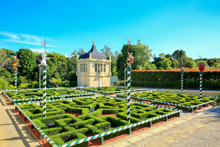 HAMILTON, NZ - FEBRUARY 25, 2015: Tudor Garden in Hamilton Gardens. Editorial