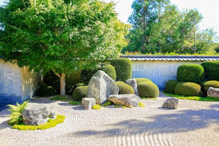 contemplation: HAMILTON, NZ - FEBRUARY 25, 2015: Japanese Garden of Contemplation  in Hamilton Gardens
