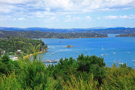 bay: Perfect water view. Russell and Bay of Islands, New Zealand