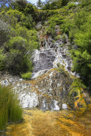 Orakei Korako geothermal park, North island of New Zealand.