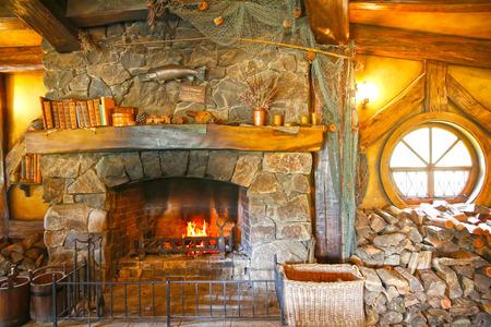 holiday blockbuster: MATAMATA, NEW ZEALAND - JANUARY 15, 2015: Green Dragon tavern interior in Hobbiton village Editorial