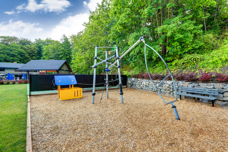 tacoma: Playground Equipment set for Children in Tacoma Lawn tennis Club. Northwest, USA