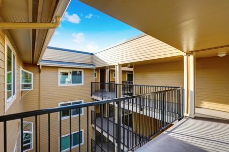 northwest: Apartment house exterior in Seattle. Northwest, USA