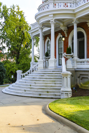MACON, GEORGIA - OCT 29, 2013: Johnston-Felton-Hay House is a National Historic Landmark , built from 1855 to in 1859. Italian Renaissance Revival style, four levels, crowned by a cupola. Editorial