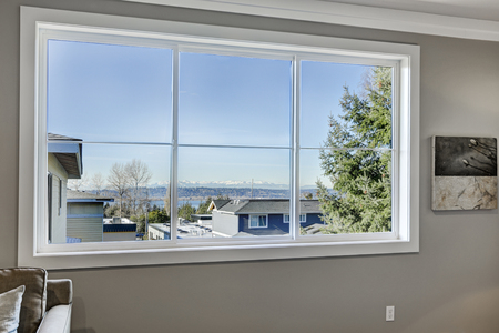 Stunning view of Lake Washington from bedroom window. Northwest, USA