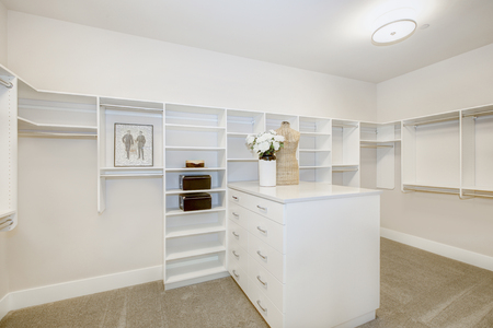 Huge Walk In Closet With Shelves, Drawers And Clothes Rails. Northwest, USA