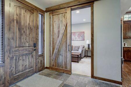 Front door and office room near main hallway. Stock fotó