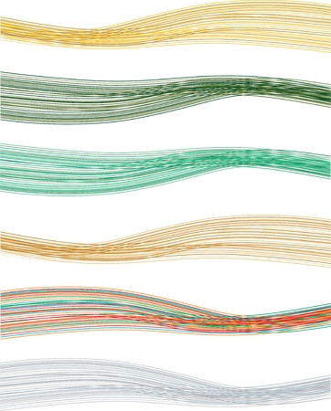 A collection of colorful abstract lines for the banner Stock Vector - 15200737