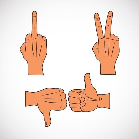 gestures Stock Vector - 14977984