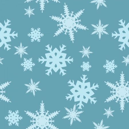 abstract blue background with different snowflakes Stock Vector - 15505851
