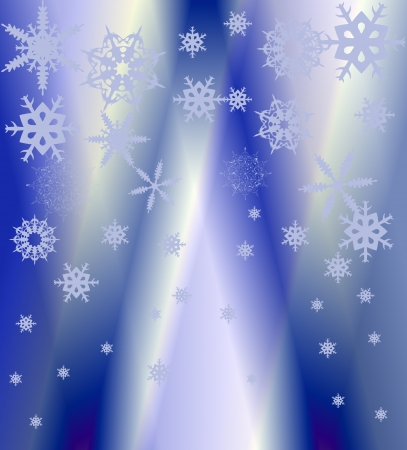 winter background with falling snowflakes Illustration