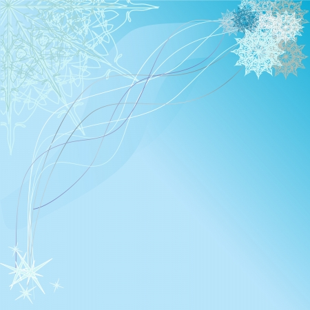 winter background with snowflakes� Vector