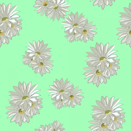 Floral seamless texture with pink and yellow asters Vector