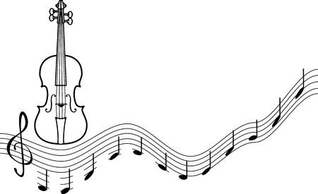 geigen: Hintergrund mit einer Reihe von musikalischen Violinschl�ssel isoliert auf wei�