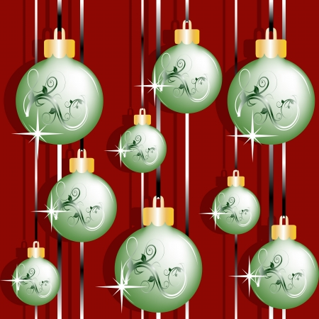 Christmas continuous texture with stars and Christmas balls Vector