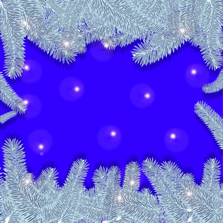 Blue Christmas background with silver Christmas trees Stock Vector - 16057051