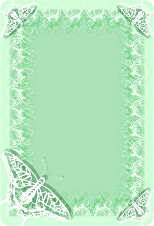 soft frame with butterflies in blue Stock Vector - 16057005