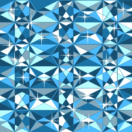 patchwork pattern: Vector seamless texture blue color without gradients and transparencies