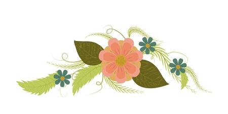 vector vintage bouquet of different flowers Stock Vector - 16269180