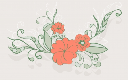 vintage floral arrangement in gentle tones Vector