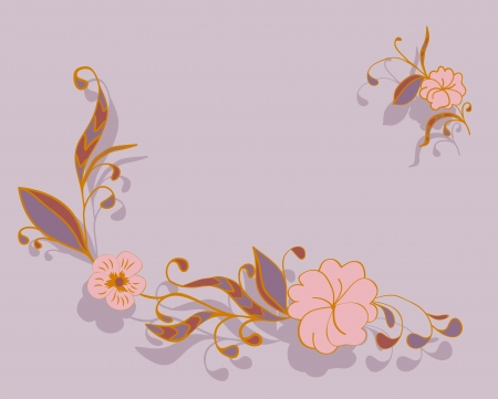 corner delicate floral background Vector