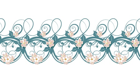 gentle horizontal repeating pattern gentle tones pink gzhel Stock Vector - 16464477
