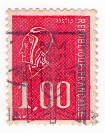 FRANCE - CIRCA 1970: stamp printed in France shows woman