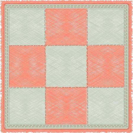 pink cell: alfombra a cuadros de �poca en la celda gris y rosa