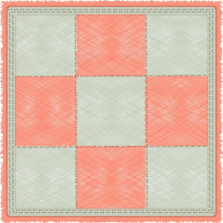 carpet flooring: vintage checkered rug in gray and pink cell