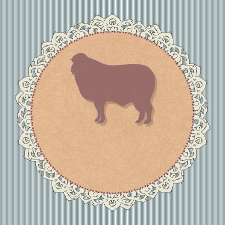 icon for a restaurant - lamb Vector