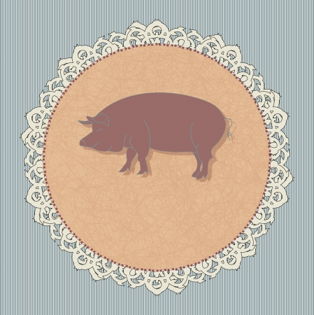 icon for a restaurant - pork Illustration